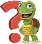 Turtle Cartoon Vector Character AKA Juan the Joyful - Question