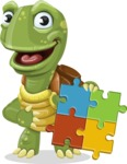 Turtle Cartoon Vector Character AKA Juan the Joyful - Puzzle