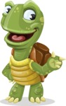 Turtle Cartoon Vector Character AKA Juan the Joyful - Point