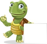 Turtle Cartoon Vector Character AKA Juan the Joyful - Sign 7