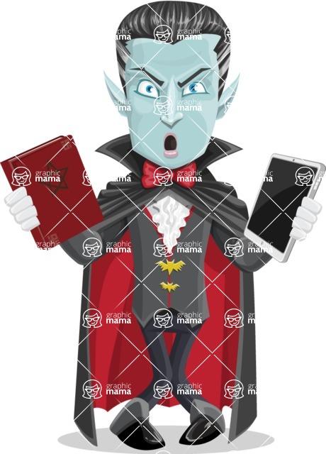 Halloween Vampire Vector Cartoon Character - Choosing Between Modern and Oldschool