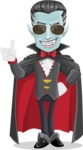 Halloween Vampire Vector Cartoon Character - Being Cool