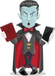 Halloween Vampire Vector Cartoon Character - Choosing Between Modern and Oldschool