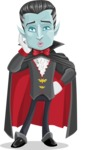 Halloween Vampire Vector Cartoon Character - Making a Selfie