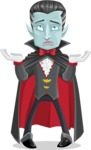 Halloween Vampire Vector Cartoon Character - Feeling Confused