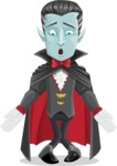 Halloween Vampire Vector Cartoon Character - Feeling Lost