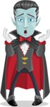 Halloween Vampire Vector Cartoon Character - Feeling Shocked