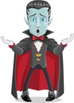 Halloween Vampire Vector Cartoon Character - Feeling Sorry