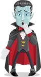 Halloween Vampire Vector Cartoon Character - Making Oops Gesture