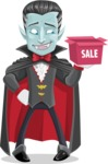 Halloween Vampire Vector Cartoon Character - On a Sale