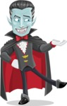Halloween Vampire Vector Cartoon Character - Presenting
