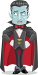 Halloween Vampire Vector Cartoon Character - Rolling Eyes