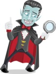 Halloween Vampire Vector Cartoon Character - Searching
