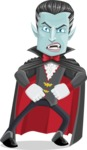 Halloween Vampire Vector Cartoon Character - With Angry Face