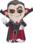 Little Vampire Kid Vector Cartoon Character - Being Cool