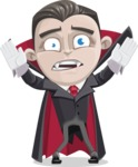 Little Vampire Kid Vector Cartoon Character - Being Scared