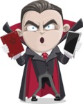 Little Vampire Kid Vector Cartoon Character - Choosing Between Modern and Oldschool