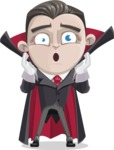 Little Vampire Kid Vector Cartoon Character - Feeling Shocked