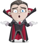 Little Vampire Kid Vector Cartoon Character - Feeling Sorry