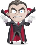 Little Vampire Kid Vector Cartoon Character - Making Scary Face