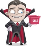 Little Vampire Kid Vector Cartoon Character - On a Sale