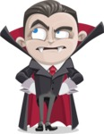 Little Vampire Kid Vector Cartoon Character - Rolling Eyes