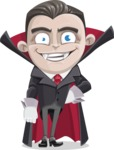 Little Vampire Kid Vector Cartoon Character - Smiling