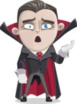 Little Vampire Kid Vector Cartoon Character - Tired and Yawning