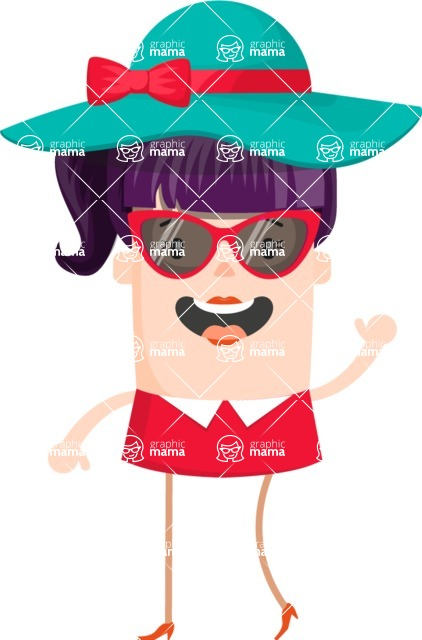 Make Me Your Vector Star - Fashion girl with hat and sunglasses