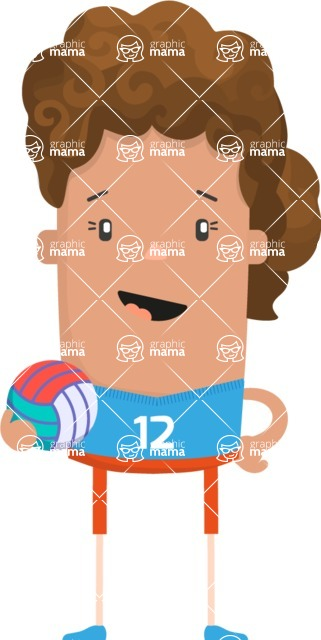 Funny Vector Cartoon Graphic Maker - Vector volleyball girl