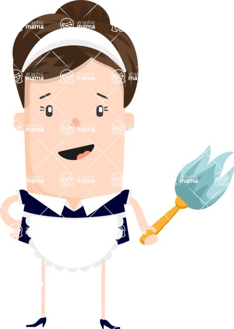 Funny Vector Cartoon Graphic Maker - Friendly maid