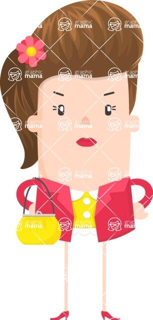 Funny Vector Cartoon Graphic Maker - Pretentious fashion girl
