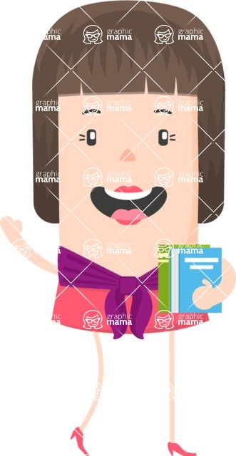 Funny Vector Cartoon Graphic Maker - Short haired female teacher