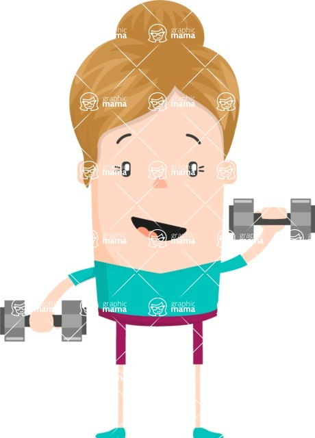 Funny Vector Cartoon Graphic Maker - Fitness-girl-character