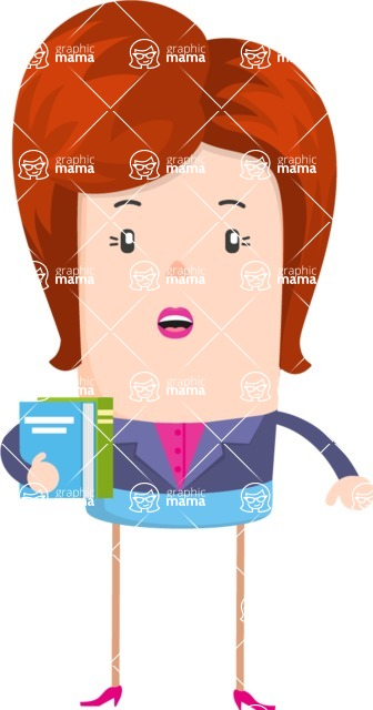 Funny Vector Cartoon Graphic Maker - Surprised librarian woman