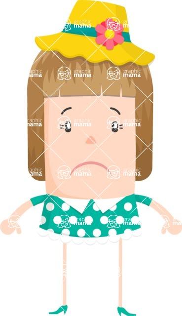 Funny Vector Cartoon Graphic Maker - Upset hippie character