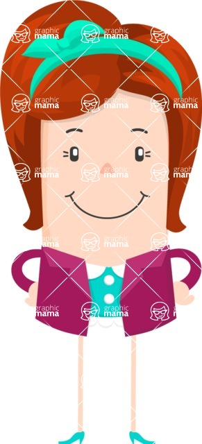 Funny Vector Cartoon Graphic Maker - Content female character