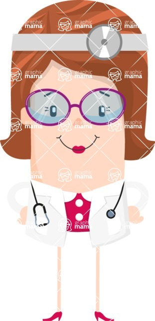 Make Me Your Vector Star - Brunette doctor character