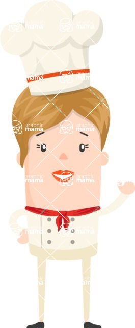 Make Me Your Vector Star - Short-haired cook woman