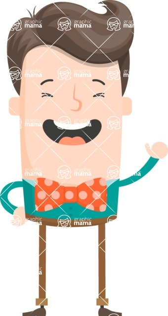 Funny Vector Cartoon Graphic Maker - Charming guy with bow tie
