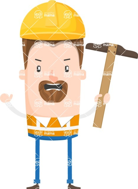 Make Me Your Vector Star - Angry construction worker