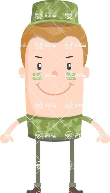 Funny Vector Cartoon Graphic Maker - Vector soldier boy