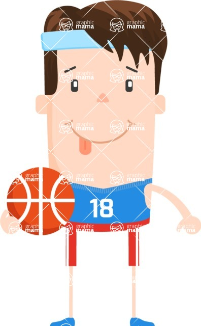 Funny Vector Cartoon Graphic Maker - Vector basketball player