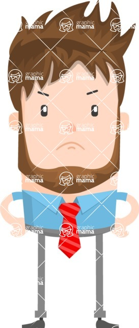 Funny Vector Cartoon Graphic Maker - Punk guy with tie