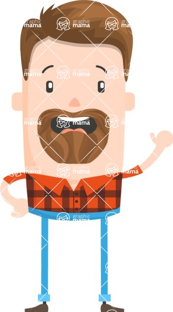 Funny Vector Cartoon Graphic Maker - Friendly lumberjack