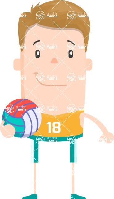 Funny Vector Cartoon Graphic Maker - Vector volleyball guy