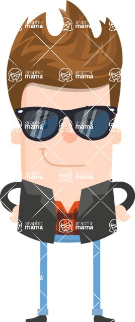 Funny Vector Cartoon Graphic Maker - Rock star guy