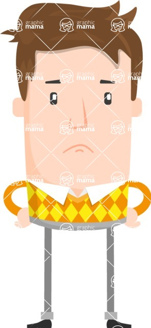 Funny Vector Cartoon Graphic Maker - Moody guy with sweater