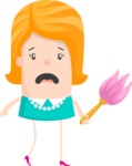 Funny Vector Cartoon Graphic Maker - Panicking housewife
