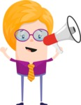 Funny Vector Cartoon Graphic Maker - Lady with megaphone